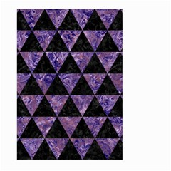 Triangle3 Black Marble & Purple Marble Large Garden Flag (two Sides) by trendistuff