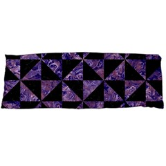 Triangle1 Black Marble & Purple Marble Body Pillow Case Dakimakura (two Sides) by trendistuff