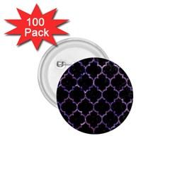 Tile1 Black Marble & Purple Marble 1 75  Button (100 Pack)