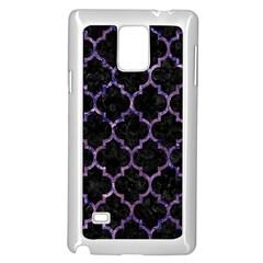 Tile1 Black Marble & Purple Marble Samsung Galaxy Note 4 Case (white) by trendistuff