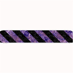 Stripes3 Black Marble & Purple Marble (r) Small Bar Mat by trendistuff