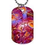 Floral Artstudio 1216 Plastic Flowers Dog Tag (Two Sides)
