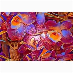 Floral Artstudio 1216 Plastic Flowers Canvas 24  X 36  by MoreColorsinLife