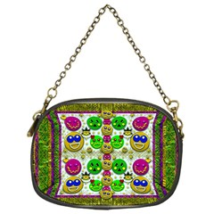 Smile And The Whole World Smiles With You Chain Purses (one Side)  by pepitasart