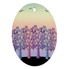 Magical Hill Ornament (oval)  by Valentinaart