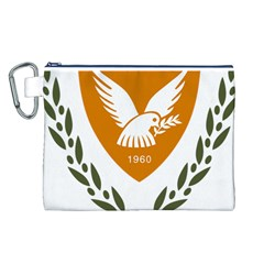 Coat Of Arms Of Cyprus Canvas Cosmetic Bag (l) by abbeyz71