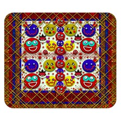 Smile And The Whole World Smiles  On Double Sided Flano Blanket (small)  by pepitasart