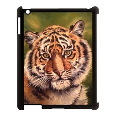 Tiger Cub Apple Ipad 3/4 Case (black) by ArtByThree
