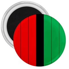 Kwanzaa Colors African American Red Black Green  3  Magnets by yoursparklingshop