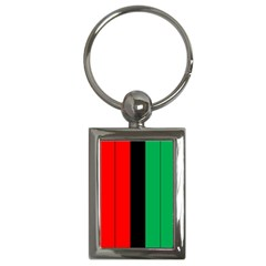 Kwanzaa Colors African American Red Black Green  Key Chains (rectangle)  by yoursparklingshop