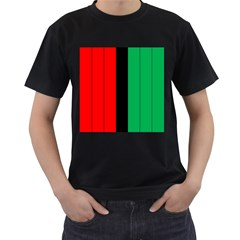 Kwanzaa Colors African American Red Black Green  Men s T Shirt (black) (two Sided) by yoursparklingshop