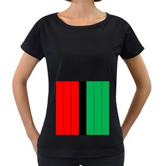 Kwanzaa Colors African American Red Black Green  Women s Loose Fit T Shirt (black) by yoursparklingshop