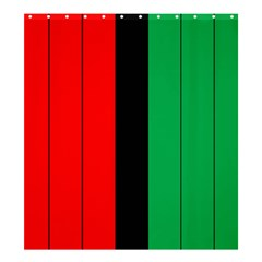 Kwanzaa Colors African American Red Black Green  Shower Curtain 66  X 72  (large)  by yoursparklingshop