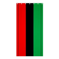 Kwanzaa Colors African American Red Black Green  Shower Curtain 36  X 72  (stall)  by yoursparklingshop