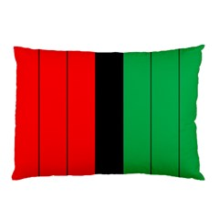 Kwanzaa Colors African American Red Black Green  Pillow Case (two Sides) by yoursparklingshop