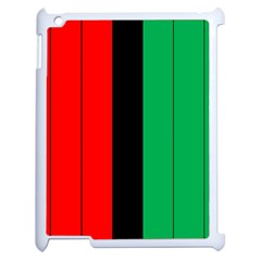 Kwanzaa Colors African American Red Black Green  Apple Ipad 2 Case (white) by yoursparklingshop