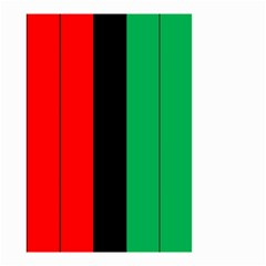 Kwanzaa Colors African American Red Black Green  Small Garden Flag (two Sides) by yoursparklingshop