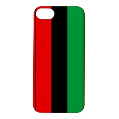 Kwanzaa Colors African American Red Black Green  Apple Iphone 5s/ Se Hardshell Case by yoursparklingshop