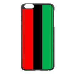 Kwanzaa Colors African American Red Black Green  Apple Iphone 6 Plus/6s Plus Black Enamel Case by yoursparklingshop