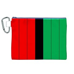 Kwanzaa Colors African American Red Black Green  Canvas Cosmetic Bag (xl) by yoursparklingshop