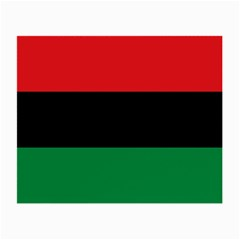 Pan African Unia Flag Colors Red Black Green Horizontal Stripes Small Glasses Cloth by yoursparklingshop