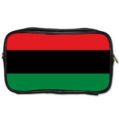 Pan African Unia Flag Colors Red Black Green Horizontal Stripes Toiletries Bags 2 Side by yoursparklingshop