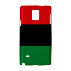 Pan African Unia Flag Colors Red Black Green Horizontal Stripes Samsung Galaxy Note 4 Hardshell Case by yoursparklingshop