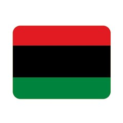 Pan African Unia Flag Colors Red Black Green Horizontal Stripes Double Sided Flano Blanket (mini)  by yoursparklingshop