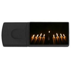 Hanukkah Chanukah Menorah Candles Candlelight Jewish Festival Of Lights Usb Flash Drive Rectangular (4 Gb)  by yoursparklingshop
