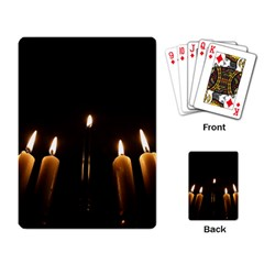 Hanukkah Chanukah Menorah Candles Candlelight Jewish Festival Of Lights Playing Card by yoursparklingshop