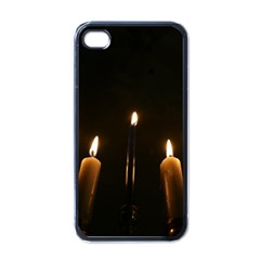 Hanukkah Chanukah Menorah Candles Candlelight Jewish Festival Of Lights Apple Iphone 4 Case (black) by yoursparklingshop
