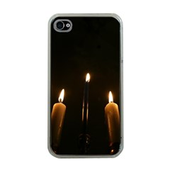 Hanukkah Chanukah Menorah Candles Candlelight Jewish Festival Of Lights Apple Iphone 4 Case (clear) by yoursparklingshop