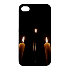 Hanukkah Chanukah Menorah Candles Candlelight Jewish Festival Of Lights Apple Iphone 4/4s Hardshell Case by yoursparklingshop