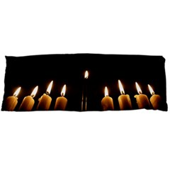 Hanukkah Chanukah Menorah Candles Candlelight Jewish Festival Of Lights Body Pillow Case (dakimakura) by yoursparklingshop
