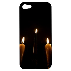Hanukkah Chanukah Menorah Candles Candlelight Jewish Festival Of Lights Apple Iphone 5 Hardshell Case by yoursparklingshop
