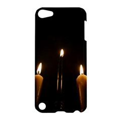 Hanukkah Chanukah Menorah Candles Candlelight Jewish Festival Of Lights Apple Ipod Touch 5 Hardshell Case by yoursparklingshop