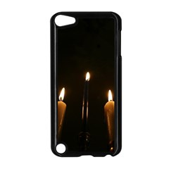 Hanukkah Chanukah Menorah Candles Candlelight Jewish Festival Of Lights Apple Ipod Touch 5 Case (black) by yoursparklingshop