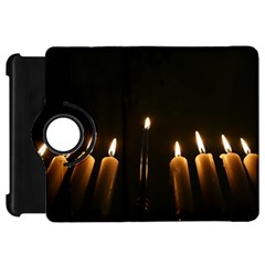Hanukkah Chanukah Menorah Candles Candlelight Jewish Festival Of Lights Kindle Fire Hd 7  by yoursparklingshop