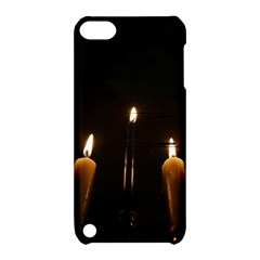 Hanukkah Chanukah Menorah Candles Candlelight Jewish Festival Of Lights Apple Ipod Touch 5 Hardshell Case With Stand by yoursparklingshop