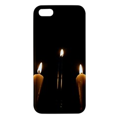 Hanukkah Chanukah Menorah Candles Candlelight Jewish Festival Of Lights Apple Iphone 5 Premium Hardshell Case by yoursparklingshop
