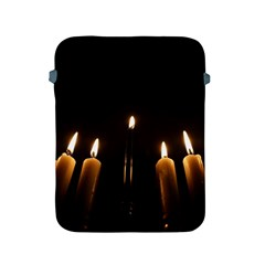 Hanukkah Chanukah Menorah Candles Candlelight Jewish Festival Of Lights Apple Ipad 2/3/4 Protective Soft Cases by yoursparklingshop