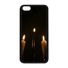 Hanukkah Chanukah Menorah Candles Candlelight Jewish Festival Of Lights Apple Iphone 5c Seamless Case (black) by yoursparklingshop