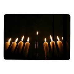 Hanukkah Chanukah Menorah Candles Candlelight Jewish Festival Of Lights Samsung Galaxy Tab Pro 10 1  Flip Case by yoursparklingshop