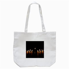 Hanukkah Chanukah Menorah Candles Candlelight Jewish Festival Of Lights Tote Bag (white) by yoursparklingshop
