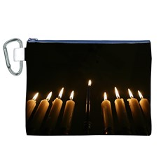Hanukkah Chanukah Menorah Candles Candlelight Jewish Festival Of Lights Canvas Cosmetic Bag (xl) by yoursparklingshop