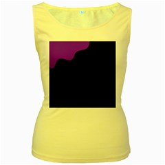 Purple and black Women s Yellow Tank Top by Valentinaart