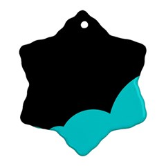 Black And Cyan Ornament (snowflake)  by Valentinaart