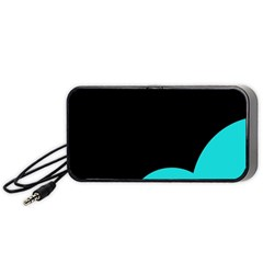 Black And Cyan Portable Speaker (black)  by Valentinaart