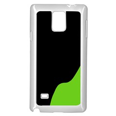 Black and green Samsung Galaxy Note 4 Case (White) by Valentinaart