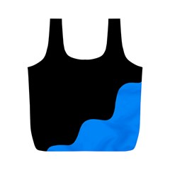 Blue And Black Full Print Recycle Bags (m)